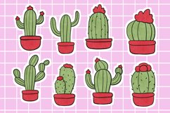 Cute Cactus Stickers Scrapbook Supplies Digital Download Product Image 1