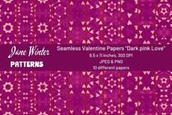 """Seamless Valentine Papers """"Dark pink Love"""" Product Image 1"""