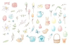 Easter Watercolor Clipart Product Image 2
