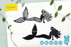 Mermaid svg, Mermaid clipart, Mermaid silhouette cut file Product Image 3