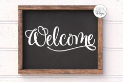 Welcome SVG   Farmhouse Sign   DXF and more! Product Image 3