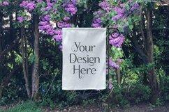 White Yard Flag Mockup Bundle, Seasons, Garden Flag Mock-Up Product Image 6