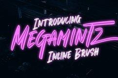 Web Font Megamintz - Inline Brush Font Product Image 1