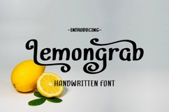 Lemongrab    Handwritten Font Product Image 1