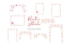 Pink and Gold Heart Balloon clipart, Valentine Clipart Product Image 3