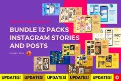 Updates! Bundle 12 packs instagram stories & posts powerpoin Product Image 1