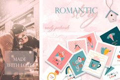 Romantic Valentine's Day. Love patterns, stickers and cards. Product Image 6