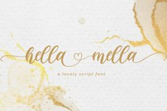 Hella mella - a Lovely Script Font Product Image 1