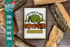 Custom Welcome To Our Campsite SVG Product Image 1