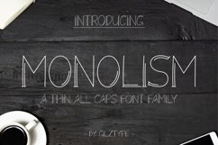 Monolism - A Thin All Caps Font Family Product Image 1