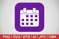Vector Calendar Icon Product Image 1