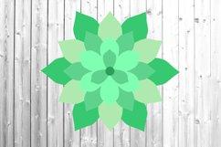 Succulent svg 3d succulent svg 6 layers Paper succulent Product Image 1