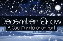 Web Font December Snow - A Cute Hand-Lettered Font Product Image 1