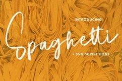 Web Font Spaghetti - SVG Script Font Product Image 1