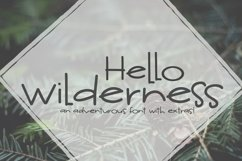 Hello Wilderness Font and Doodles Product Image 2