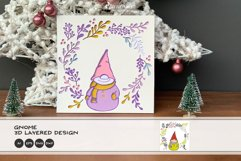 3D Gnome SVG   Christmas SVG 3D Layered Design Product Image 2