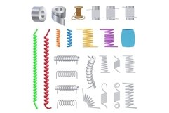 Coil icons set, cartoon style Product Image 1