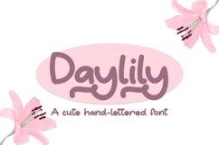 Web Font Daylily - A Cute Hand-Written Font Product Image 1