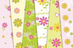 Paper pink flowers decoration digital wallpaper Product Image 2