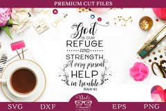 Religious Quote Psalm 46-1 SVG Cut File Product Image 1