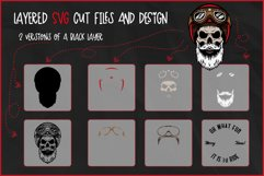 Biker Skull SVG, Christmas SVG, Retro Biker T-Shirt Design Product Image 2