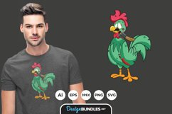 Zombie Chicken for T-Shirt Design Product Image 1
