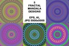 5 fractal mandala design backgrounds Product Image 1