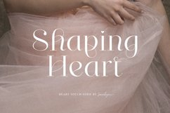Shaping Heart - Lovely Serif Product Image 9