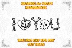 Halloween I Love You - Pumpkin & Skull Bone SVG cut files Product Image 1