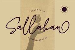 Sallahan - A Signature Font Product Image 1