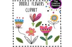 Doodle Flower Clipart Product Image 1
