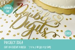 10th Birthday SVG | Double Digits Cake Topper SVG Product Image 3