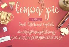 Lemon Pie Modern Hand Lettered Script Font Product Image 2