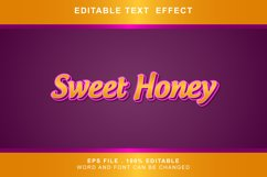sweet honey Text Effects words and fonts can be replaced Product Image 1