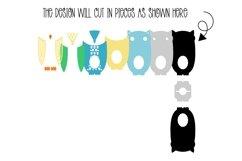 Owl Easter egg holder design SVG / DXF / EPS Product Image 2