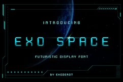 Exo Space Futuristic Display Font Product Image 1