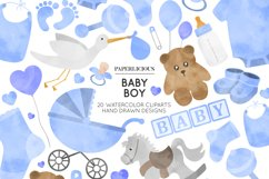 Baby Boy Nursery Cliparts Product Image 1