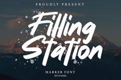 Filling station | Marker Font Product Image 1