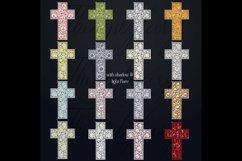 32 Diamond Pearl Rhinestone Christian cross religious Easter Product Image 2