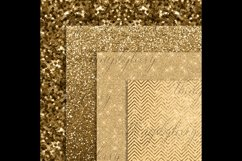 42 Antique Gold Glitter and Sequin Papers Product Image 4