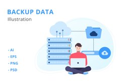Backup Data Illustration Product Image 1