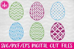 Pattern Easter Eggs Set - SVG, DXF, EPS Cut Files Product Image 1