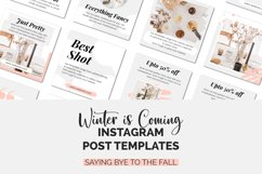 Winter is coming Instagram Post Template Product Image 6