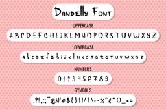 Dandelly - Playful Comic Font Product Image 2