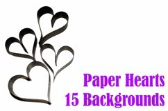 15 Paper Hearts Crafter Background Photographs Product Image 1