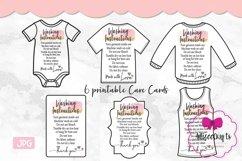 T-shirt Care Card Set, T-Shirt Washing Instructions Card Product Image 2