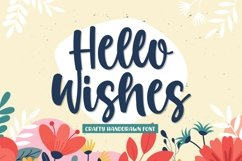 Hello Wishes - A Crafty Font Product Image 1