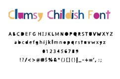 Clumsy Childish WEB Font Product Image 2