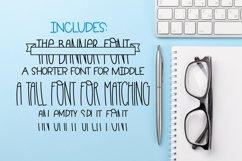 Master Plan - A Banner Font Quad Product Image 6
