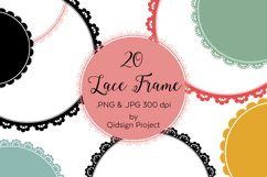20 circle lace clipart | PNG | JPG Product Image 1